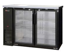 Kegco Commercial Grade Back Bar Refrigerator Two Glass Doors