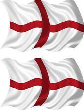 set of 2 sticker st georges flag vinyl car decal macbook self adhesive england