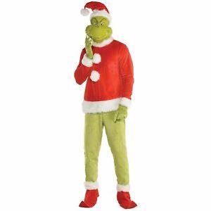 Dr. Seuss The Grinch Costume for Men, Standard Size