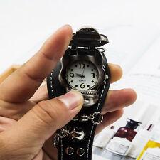 Fashion Personality Unisex Skull Leather Bracelet Cuff Gothic Wrist Watch New
