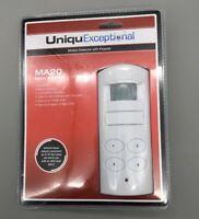 UniquExceptional UMA20 Motion Detector Activated Alarm With Keypad (White) - B09