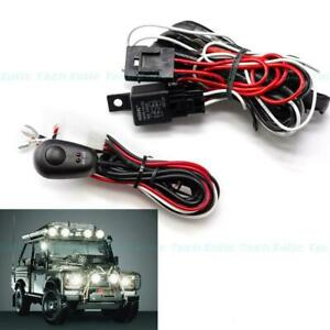 Universal Off-Road LED Light Bar Wiring Harness Relay ON/OFF Switch Cable 2 Lamp