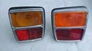SIMCA 1000 RALLYE NEW TAILLIGHTS REAR LIGHTS PAIR NOS COMPLETE