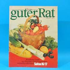 Guter Rat 2-1984 Verlag für die Frau DDR Elasan Klöße Gartenmöbel Sonnenuhr B