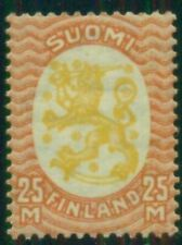 Finland #140v (122W1) 25mk Lion, rare wm1 variety (only 800 made), signed Pollak