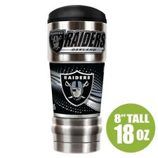 NFL Oakland Raiders Insulated Hot/Cold Stainless Steel Travel Tumbler w/Metalic