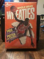 Michael Jordan First Edition Wheaties Box Unopened! With Poster Org Seal Rare