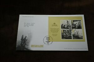 2010 First Day Cover, Dunkirk, Britain Alone m/s