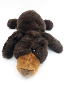 Black Bear Vintage Plush 1999 Liberty Toy Cub Laying Stuffed Animal