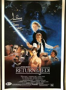 Dave Prowse signed autograph Darth Vader Star Wars movie poster 11x17 print BAS