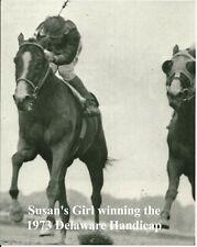 "1973 - SUSAN'S GIRL winning the Delaware Handicap - Head On Close Up - 8"" x 10"""