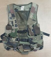 Genuine French Army Issue Woodland CCE Camo Combat Tactical Webbing Vest