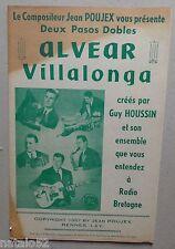 partition ALVEAR - VILLALONGA - accordéon orchestre - Jean Poujex