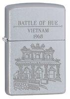 Zippo Lighter: Vietnam War, Battle of Hue - Satin Chrome 77226