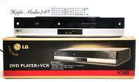 LG V190  DVD Player / VHS Videorecorder Kombigerät +FB+BDA+OVP 12 Monate Gewährl