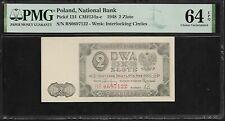 Poland  2 Zlote 1948 PMG 64 EPQ UNC    P# 134