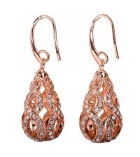 Rose Gold Authentic New 7320a Swarovski Elements Crystal Drop Abstract Earrings