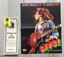 BOB MARLEY - 2sided PROMO POSTER - LIVE AT RAINBOW /SINGLES COLLECTION (lp vinyl