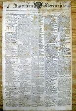 <1810 newspaper SPOTTED FEVER EPIDEMIC IN MASSACHUSETTS & Rhode Island MEDICINE