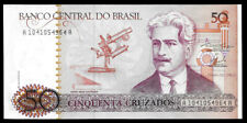World Paper Money - Brazi 50 Cruzados Nd 1986 @ Crisp Unc