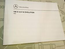new Mercedes-Benz 190E 2.5-16V EVOLUTION EVO additional instructions manual