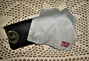 RAYBAN Sunglass CASE Cleaning Cloth Luxotica Romania Vintage Black for Eyeglass
