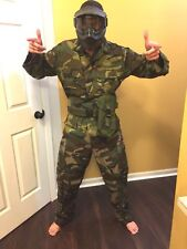 Paintball Mask And Camo Outfit