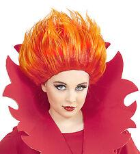 Parrucca Bambina, Bambino  Halloween Fiamme Fuoco PS 02917