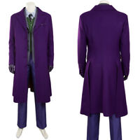 Batman The Dark Knight Rises Joker Cosplay Costume Halloween Costume Wool Coat