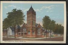 Postcard MONROE Louisiana/LA  First Presbyterian Church w/Tall Bell Tower 1930's