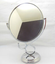 1X New Pedestal Oval Makeup Mirror Double Sided 29.5cm High