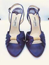 dea90cf725 JIMMY CHOO Vintage Purple Satin Ruched Vamp MUSIC Heels Sandals 39