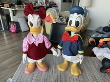 Anri Italy Wood Carved Daisy and Donald Duck Clothed Doll Walt Disney Rare!