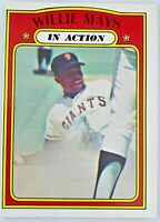 1972 O.P.C. #50 Willie Mays In Action San Francisco Giants