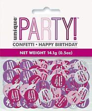 Happy Birthday Age 40 Pink Glitz Confetti