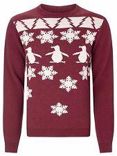 Original Penguin Red Snowflake Fair Isle Jumper - BNWT UK Size XL RRP £80