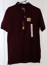 NWT Sonoma Lifestyle Weekend Perfect Fit Polo (M) Windsor Wine(Burgundy) Reg $26