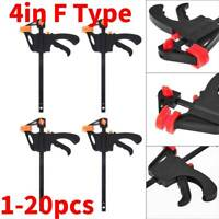4in F Type Woodworking Clip Quick Grip Clamp Heavy Duty Carpenter Tool 1/5/10pc