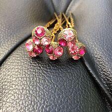 5 sposa Prom Rosa, Fucsia, Baby Pink Crystal Diamante Capelli Pin