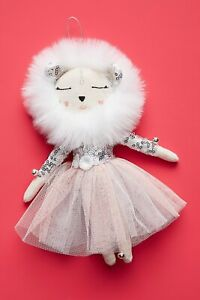 """NWT Anthropologie Alice Mary Lynch SNOW QUEEN LIONESS Christmas ORNAMENT/DOLL 7"""""""