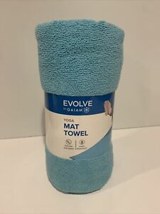 Evolve Yoga Mat Towel 24 X 68 Gaiam Blue Full Size Polyester - NEW IN PACKAGE