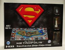 Metropolis 4D Cityscape Puzzle 833 Pieces [Superman, Poster Miniatures] NEW