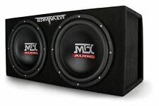 """MTX Audio TNE212DV Dual 12"""" Subwoofer Vented Enclosure, Black"""