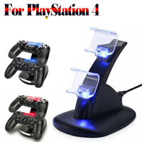 For PS4 PlayStation 4 Controller Dual USB Charger LED Dock Station Fast Charging