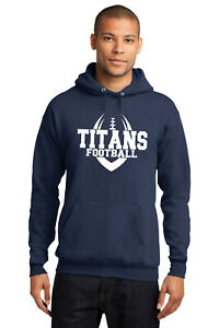 New Titans Hoodie Navy and White Adult and Youth Tennessee Hooded Sweatshirt