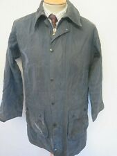 "Barbour A201 Border Waxed jacket - S 36"" Euro 46 in Blue"