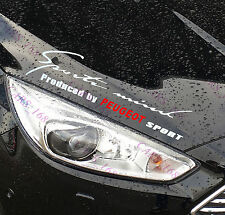 ☆New☆ Headlight Eyebrow Car Stickers Decals Graphics Vinyl For Peugeot (white)