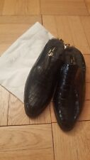 ROBERT CLERGERIE ALICE CROC SHEARLING LOAFERS MULES - SIZE 39