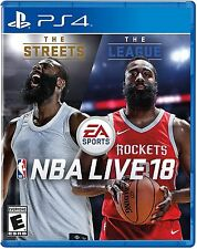 NBA LIVE 18 PlayStation 4 PS4 Basketball Video Game James Harden Sports 2K