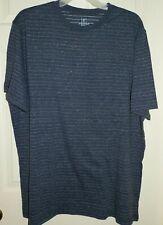 a905e45e Mens 2xlt 50-52 Dark Blue Heather Pattern Crew Neck T-shirt George